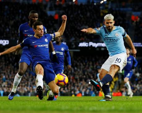 Man City hit Chelsea for six as Aguero grabs hat-trick
