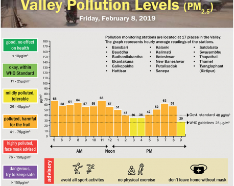 Valley Pollution Index for February  8, 2019