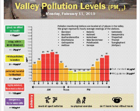 Valley Pollution Index for Feb 11, 2019