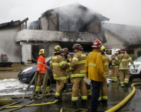2 dead, 2 injured when plane parts hit California house