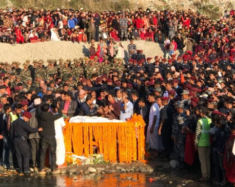 Tourism Minister Adhikari cremated with state honors