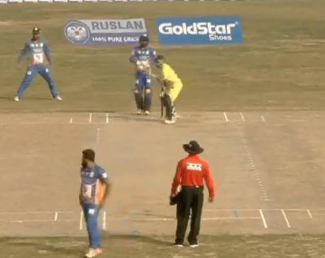 Dhangadi Stars set target of 133 runs against Kathmandu Goldens