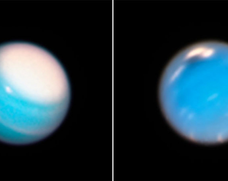 NASA's Hubble telescope uncovers Neptune's new 'mysterious dark vortex,' Uranus' giant white cap