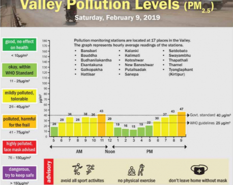 Valley Pollution Index for Feb 9, 2019