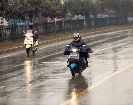 Winter rain to continue till Saturday, snow in high hills