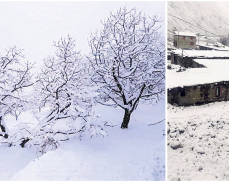 Snowfall hits life in west Nepal