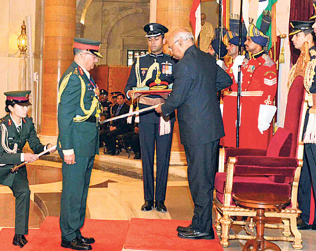 Indian prez confers CoAS Thapa with title of honorary general