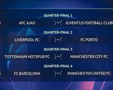 Man Utd to face Messi again in Champions League quarters