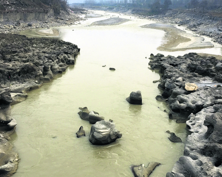 Seti River turns muddy due to rampant excavation