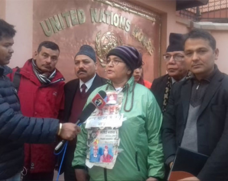 Ganga Maya meets with UNRC Julliand for her son's justice