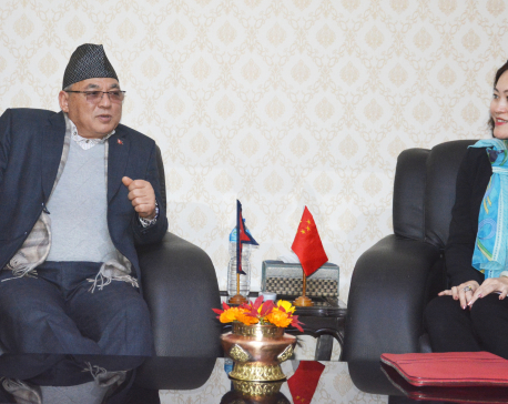 Home Minister Thapa invites his Chinese counterpart to visit Nepal