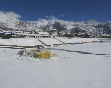Heavy snowfall in Humla