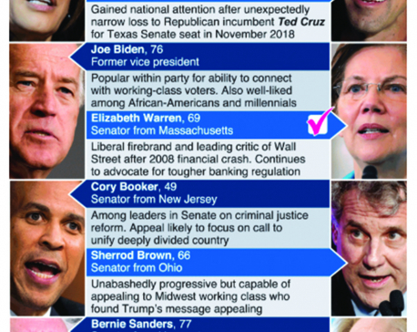 Infographics: Top Democratic presidential candidates for 2020