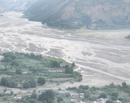 Respite for locals as blocked Kaligandaki River overflows