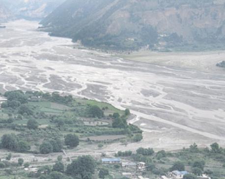 Respite for locals as blocked Kaligandaki River overflows