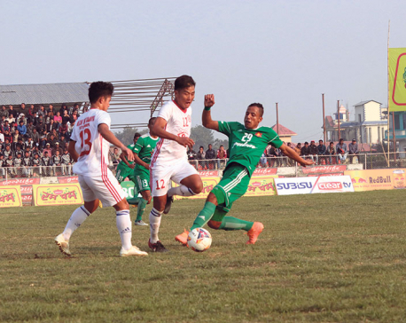Army thrashes Kakarbhitta to reach Madan Bhandari Gold Cup final