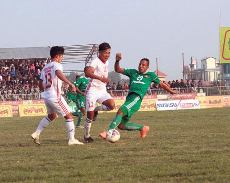 Army thrashes Kakarbhitta to reach Madan Bhandari Gold Cup final