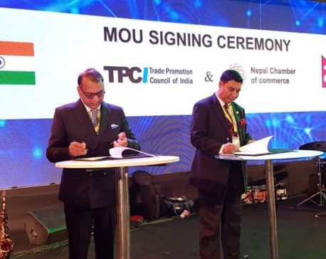 Nepal Chamber of Commerce signs MoU with India's Trade Promotion Council