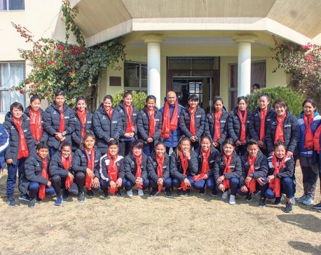 ANFA bids farewell to Nepal women's football team
