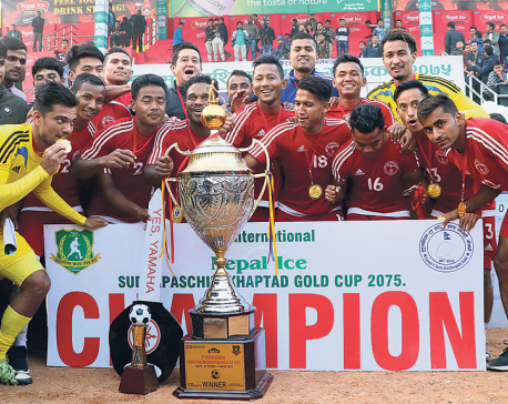 Police stuns Three Star to lift Khaptad Gold Cup