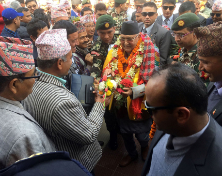 PM Oli to be busy today in his home district