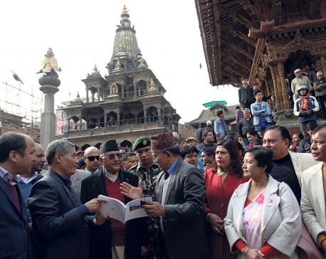PM visits Patan on Earthquake Safety Day
