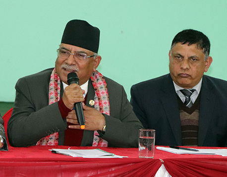 Ruling and opposition parties together in development construction: Chair Dahal