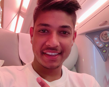 Sandeep Lamichhane reaches Bangladesh to play BPL