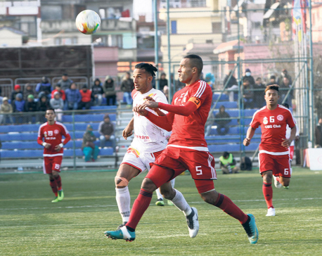 Sankata succumbs to 1-2 loss to APF, Manang has chance to go 11 points clear