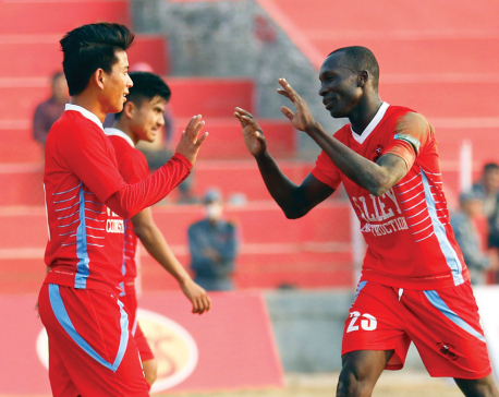 Moyan treble seals thumping win for Chyasal, enters quarters