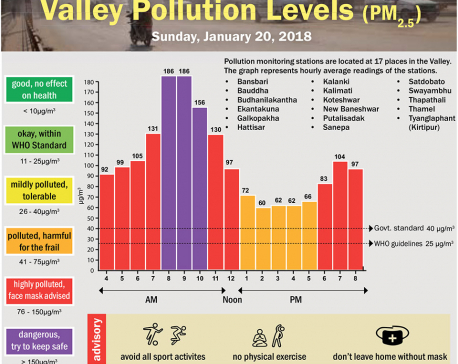 Valley Pollution Index for January 20, 2019