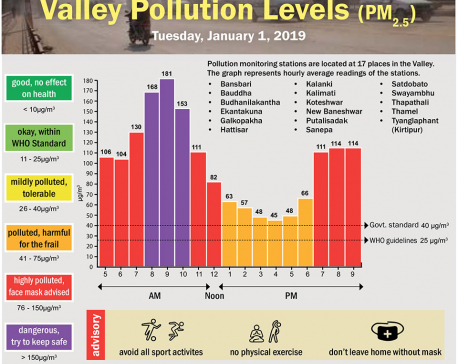 Valley Pollution Index for January 1, 2019