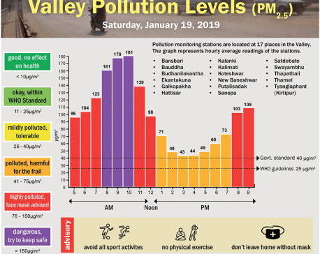 Valley Pollution Index for January 19, 2019