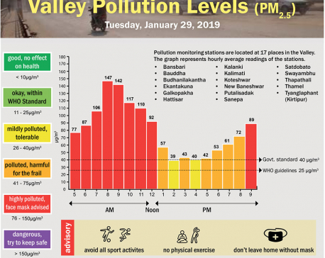 Valley Pollution Index for Jan 29, 2019