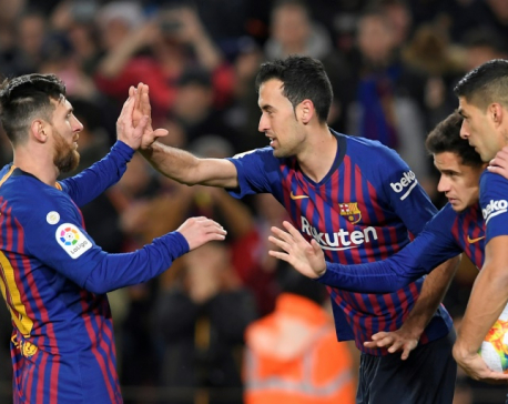 Sevilla hammering shows Barca want to win all three titles - Messi