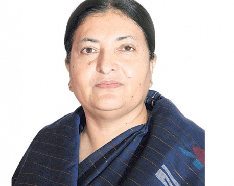 President Bhandari offers worship at Pashupati