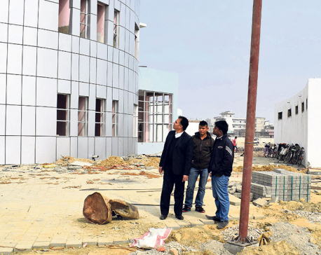 Construction of Birgunj bus terminal drags on