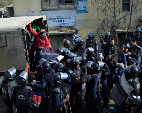Police arrest 30 for flagging off PM Oli