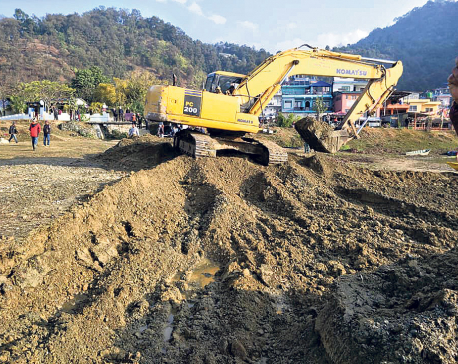 Soil excavation starts for Fewa conservation