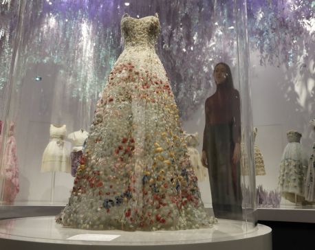 Ball gowns galore: London's V&A Museum stages new Dior show