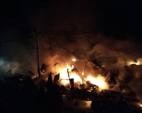 Massive fire destroys nine shops in Dadeldhura