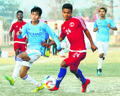 Tirtha Rana hat-trick inspires Police into quarters