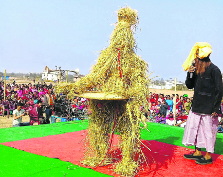 Maghi excitement among Tharus
