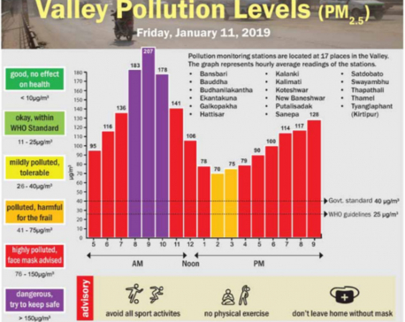 Valley Pollution Index for January 11, 2018