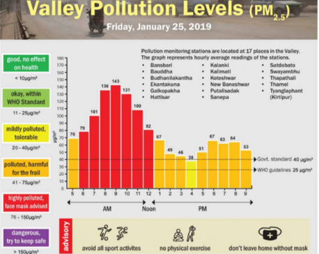 Valley Pollution Index for Jan 25, 2019