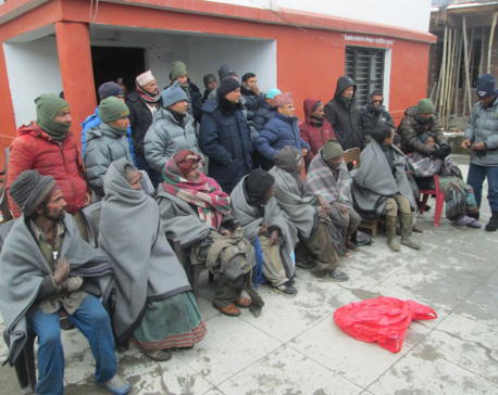 DAO Jumla provides warm clothes to differently-abled people living on the streets