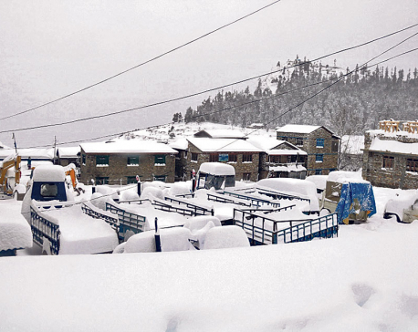 Snowfall affects life in mountain districts