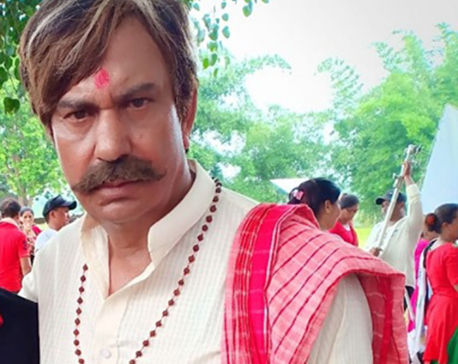 Bhuwan KC playing old man in 'Mister Babu'