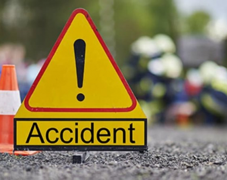 1 killed, 9 injured in road accident near Dhungeadda