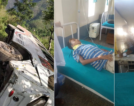 Seventeen injured in Achham bus mishap